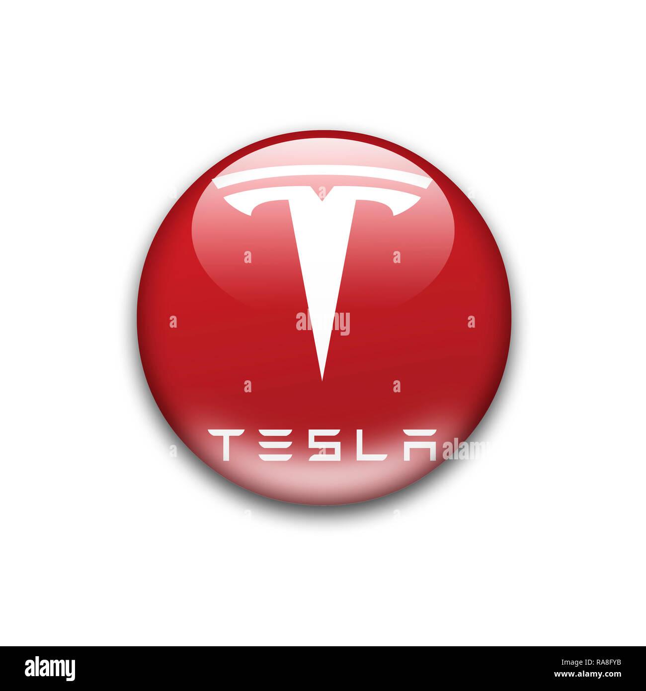 Tesla Logo Stock Photos & Tesla Logo Stock Images - Alamy