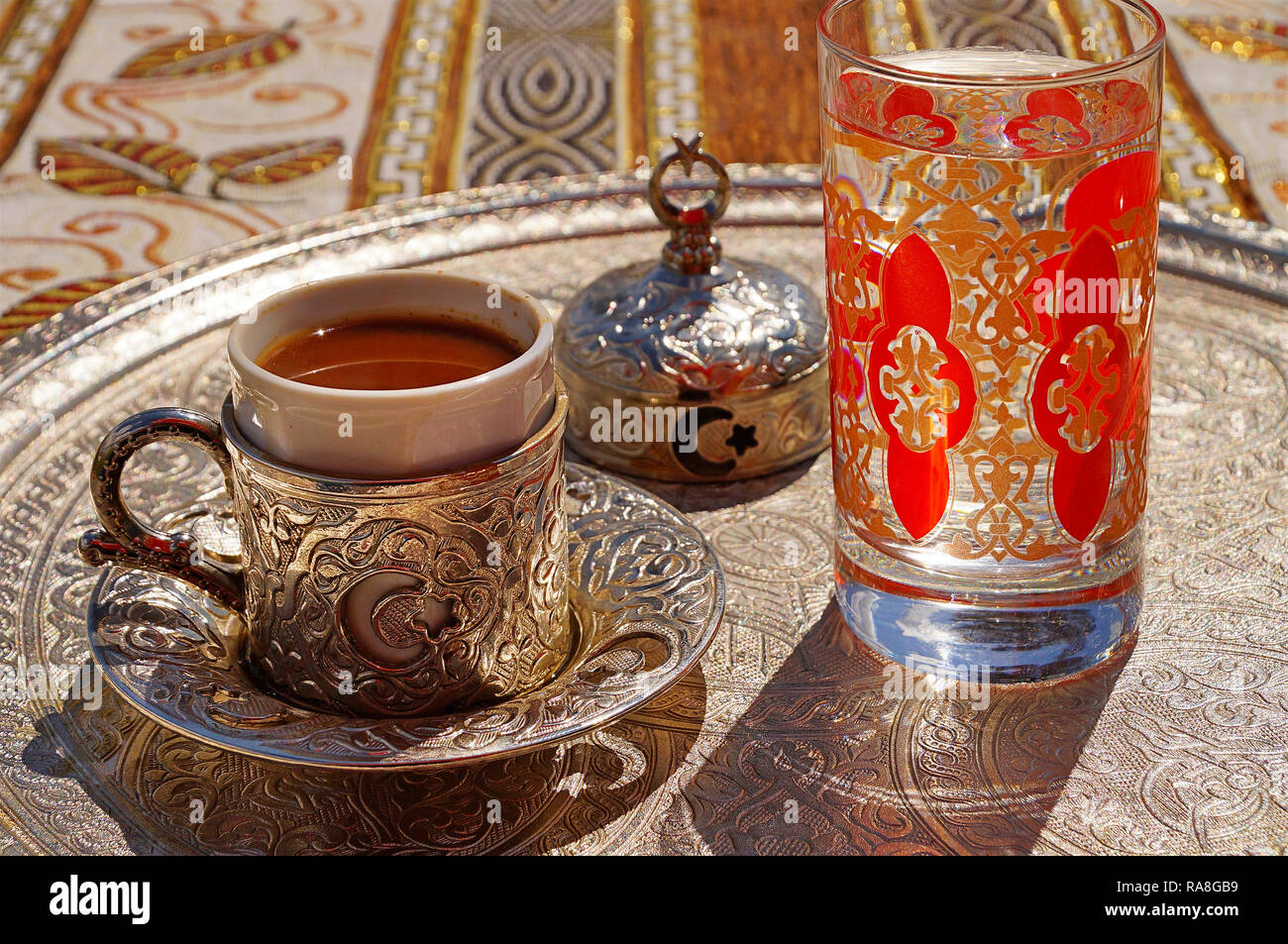 Traditional Turkish Food. Coffee. Turkey, Asia Minor Stock Photo