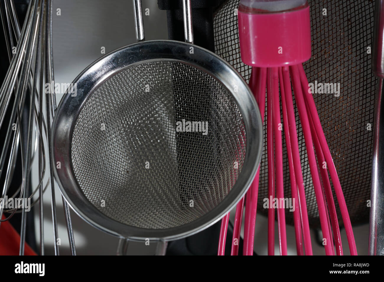 In a kitchen in Germany, these things may not be missing, they are very useful for cooking Stock Photo