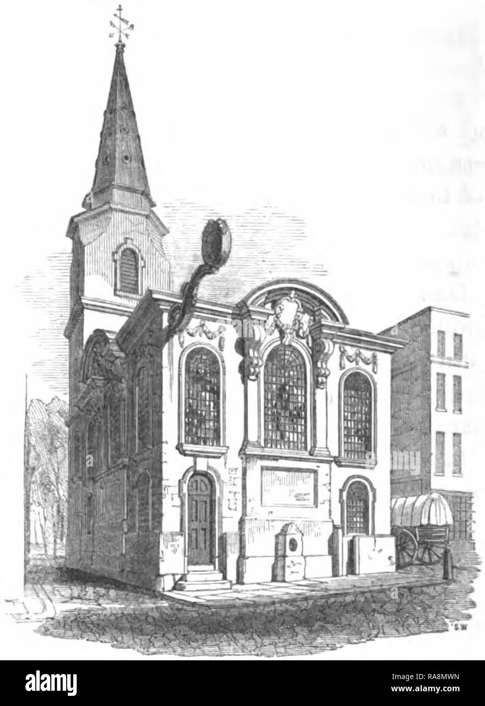 The Church of St Swithin London Stone - Stock Image