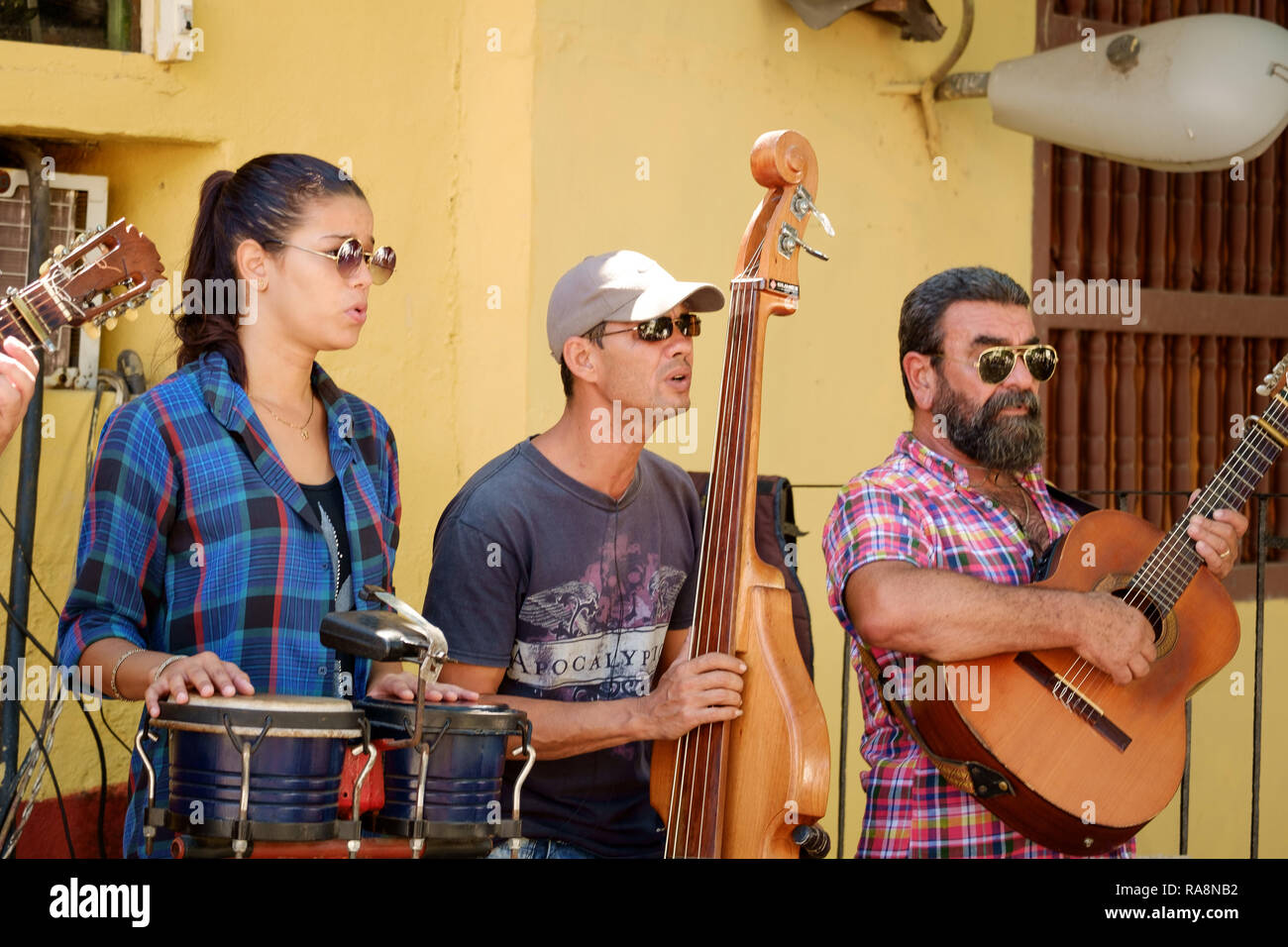 Restaurant Band in Trinidad, Cuba - Stock Image
