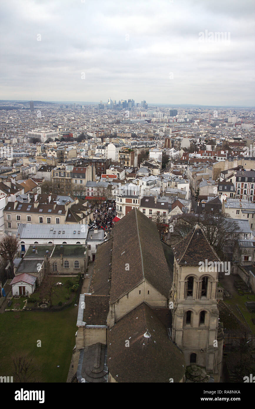 View over Paris, roofs, France Stock Photo