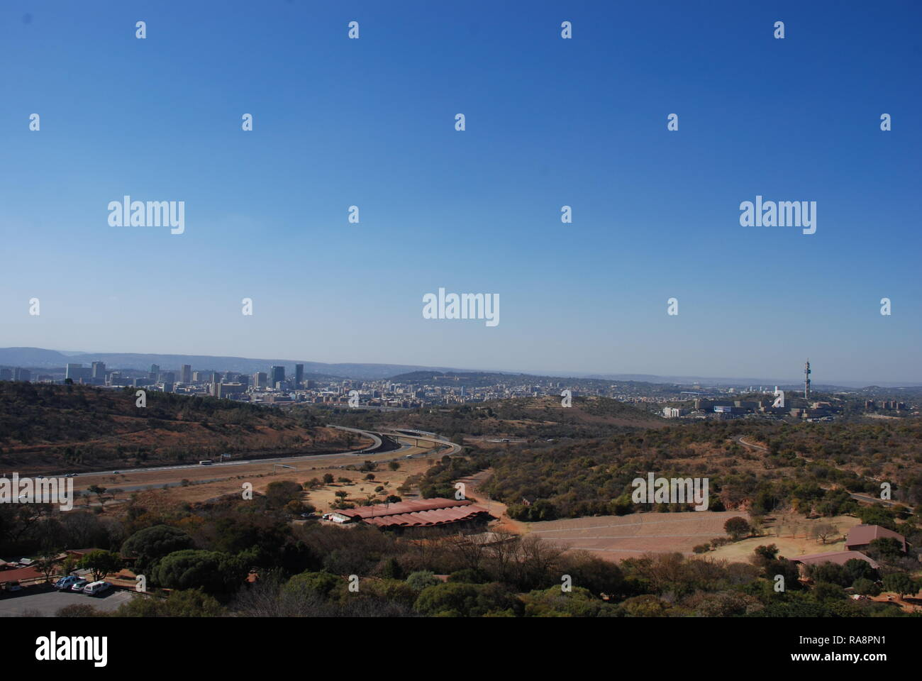 View of Pretoria from the top of the Voortrekker Monument in South Africa - Stock Image