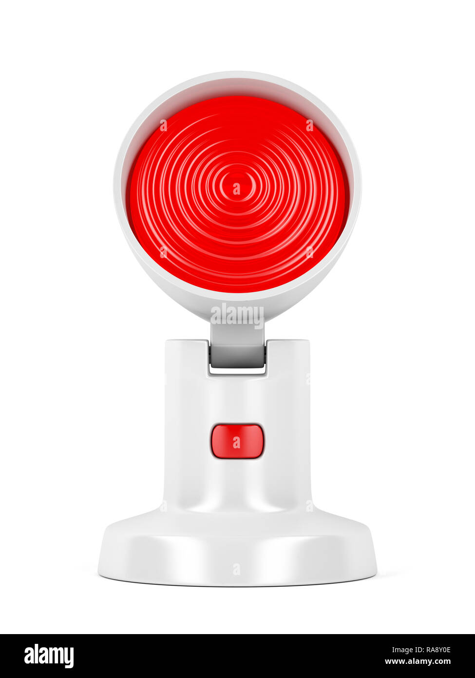 Infrared lamp on white background - Stock Image