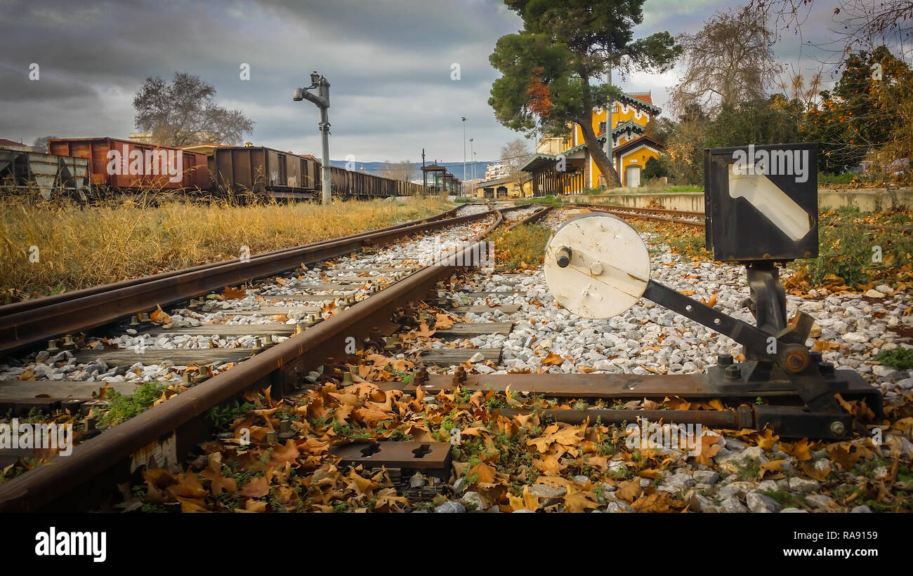 At the old station - Stock Image