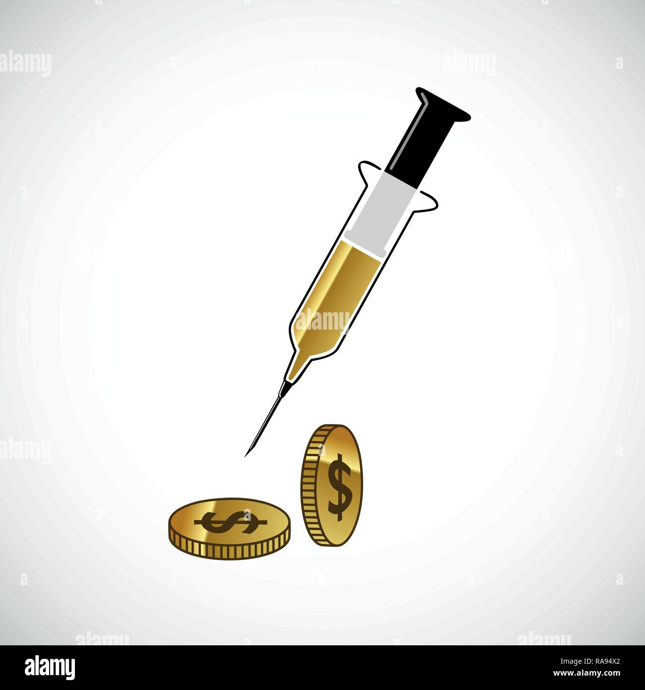 money injection with gold coins vector illustration EPS10 - Stock Vector