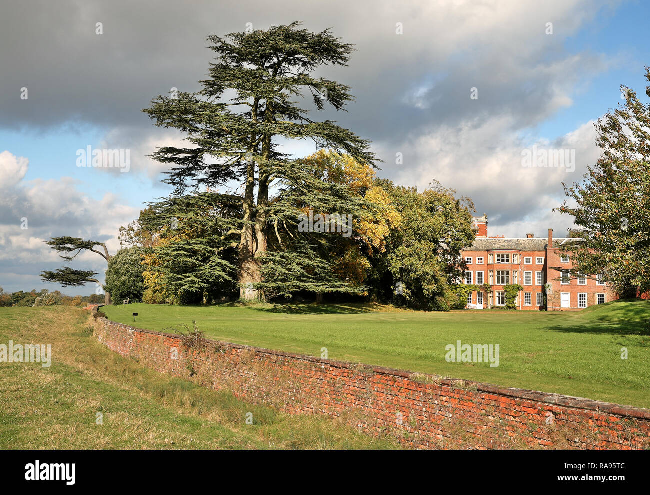 Claydon House viewed from an adjoining field - Stock Image
