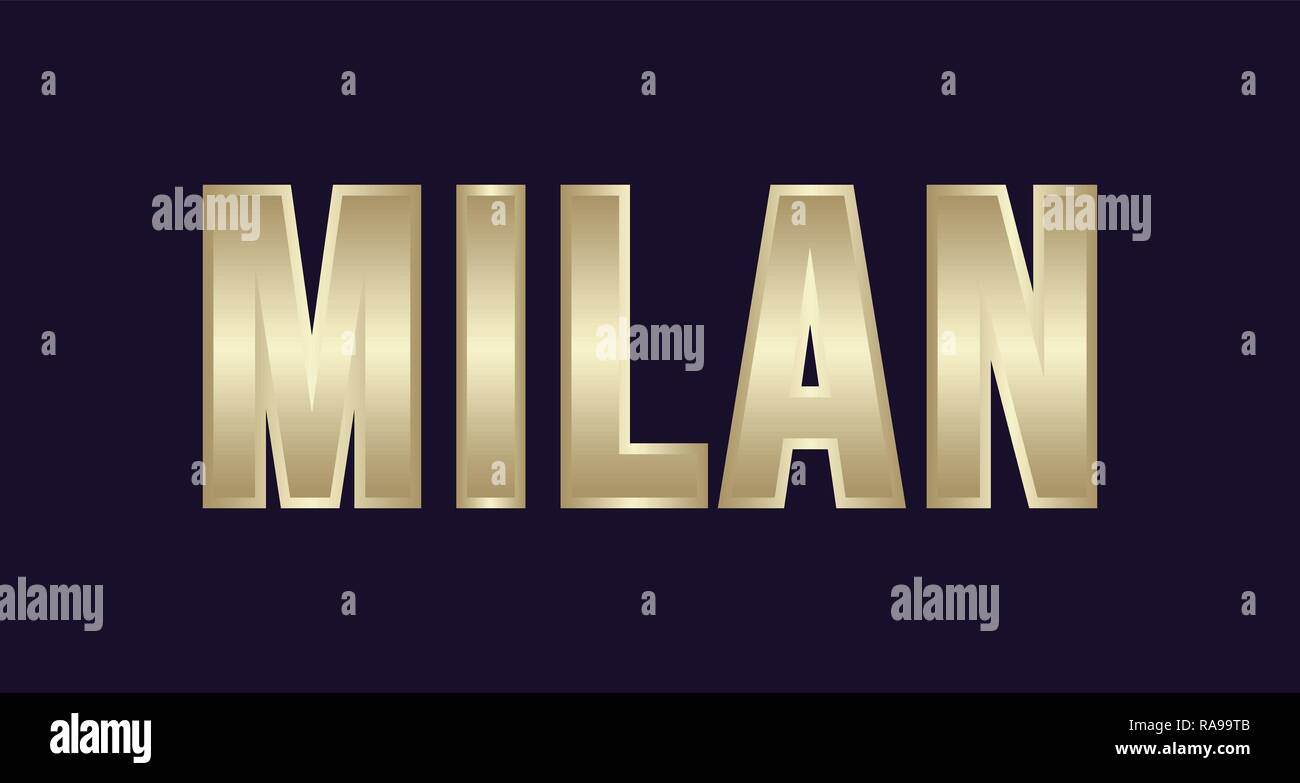 Milan City Typography vector design. Greetings for T-shirt, poster, card and more - Stock Vector