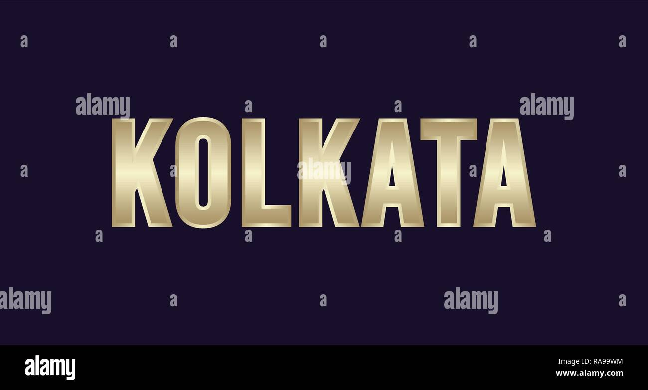 Kolkata City Typography vector design. Greetings for T-shirt, poster, card and more Stock Vector