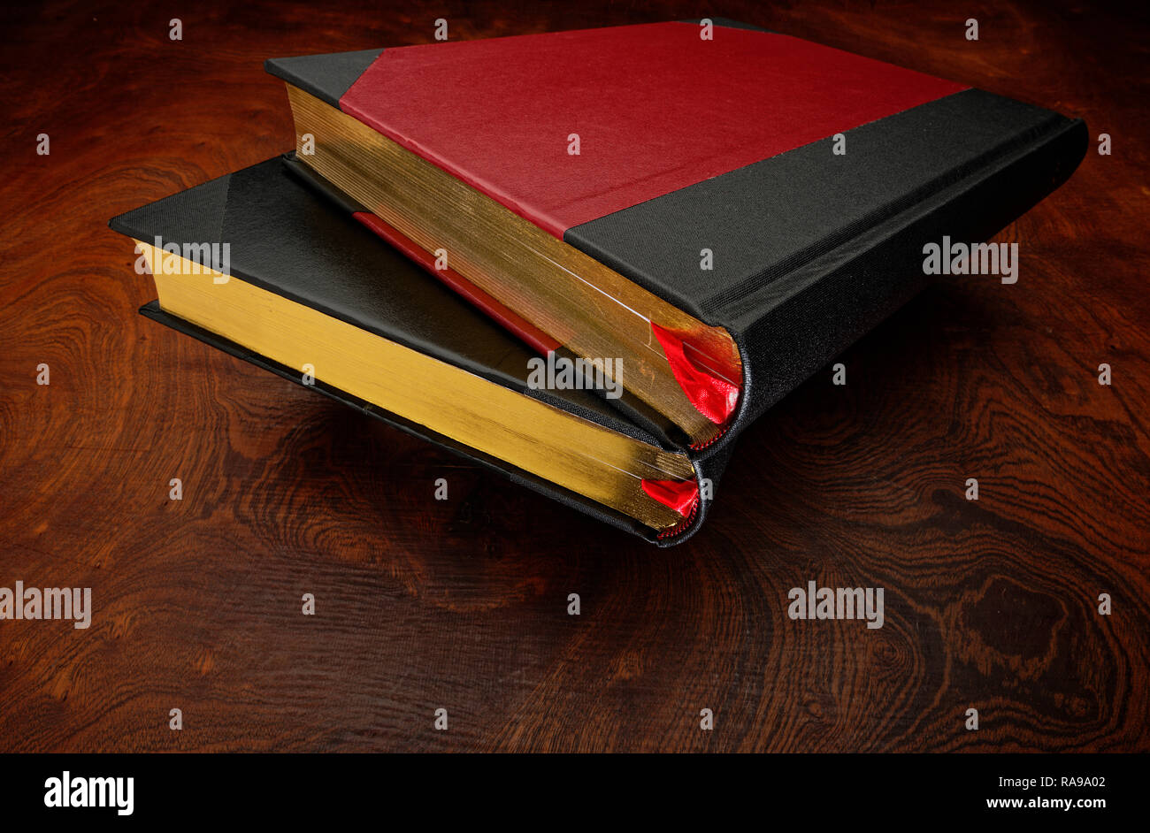 Nicely bound hard cover books, ledgers or journals Stock Photo