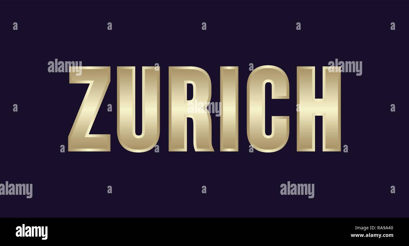 Zurich City Typography vector design. Greetings for T-shirt, poster, card and more - Stock Vector