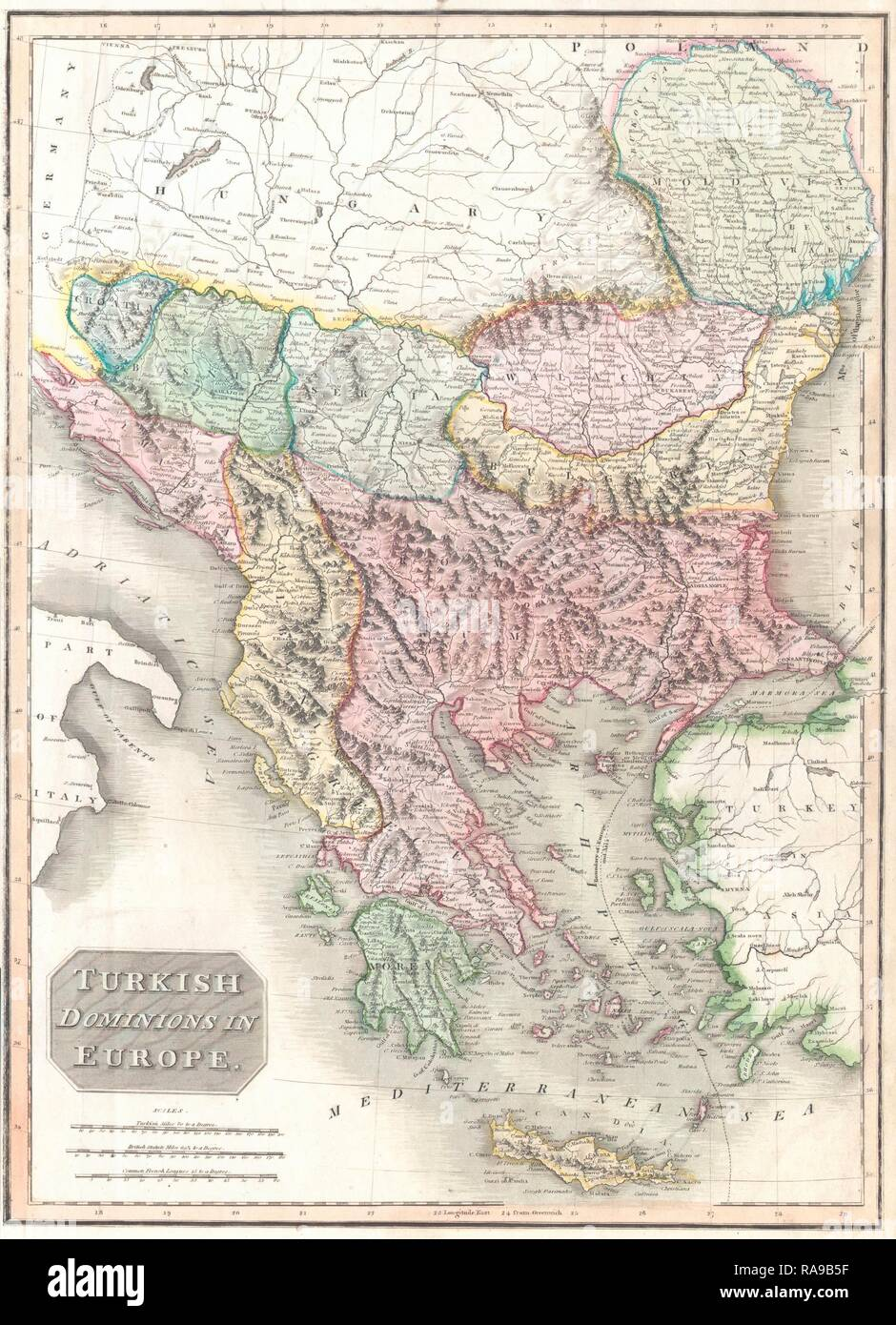 Map Of Europe 1840.1814 Thomson Map Of Greece Turkey In Europe And The Balkans John
