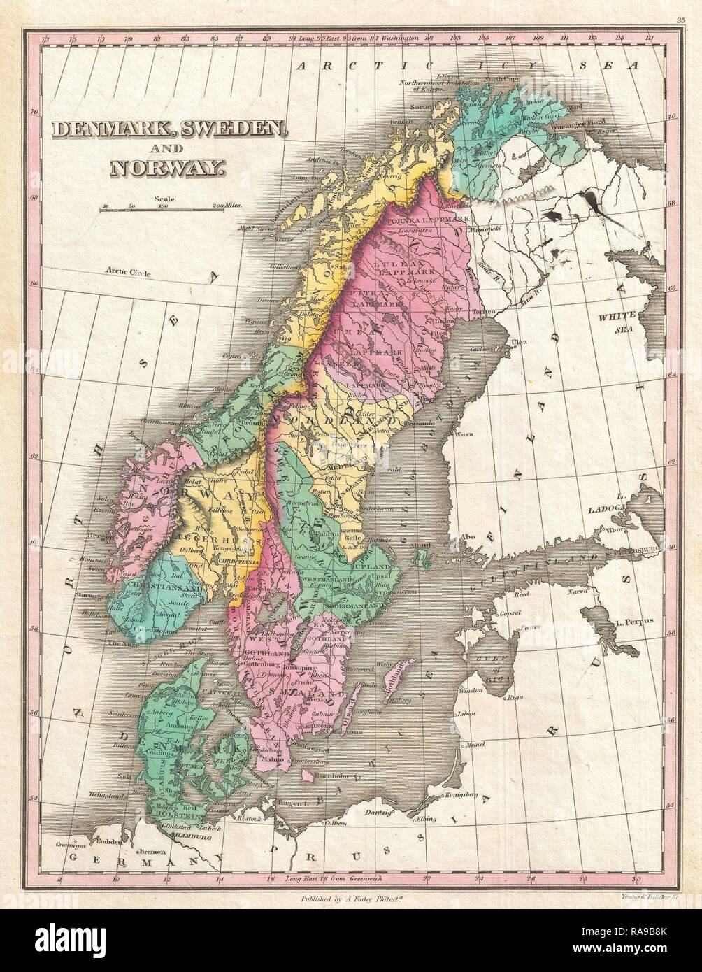 19th Century Norway Map Stock Photos & 19th Century Norway ... on