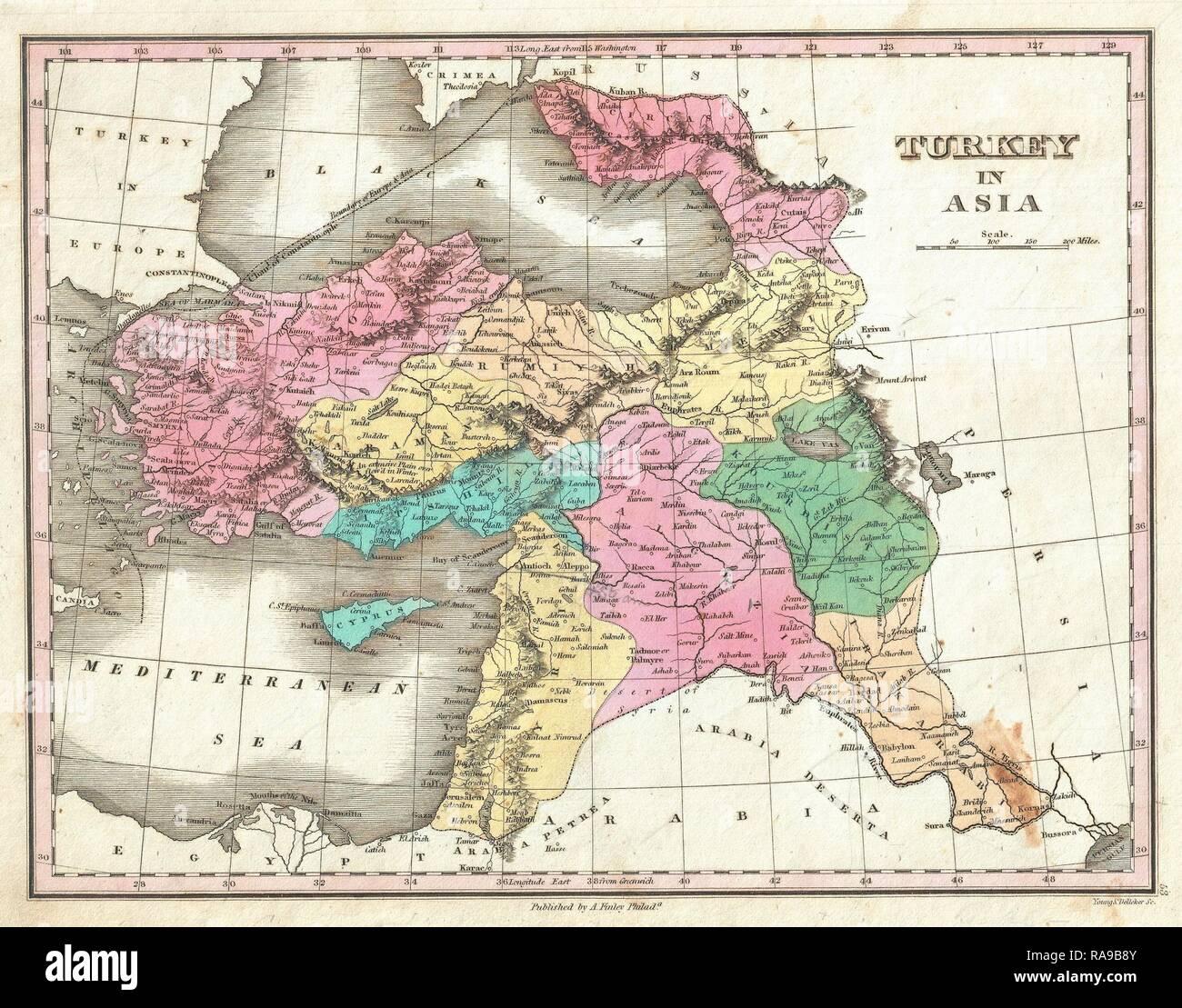 Weller 1862 Map Various Styles Turkey In Asia East Armenia Kurdistan Assyria Mesopotamia Iraq Art Prints Asia Maps