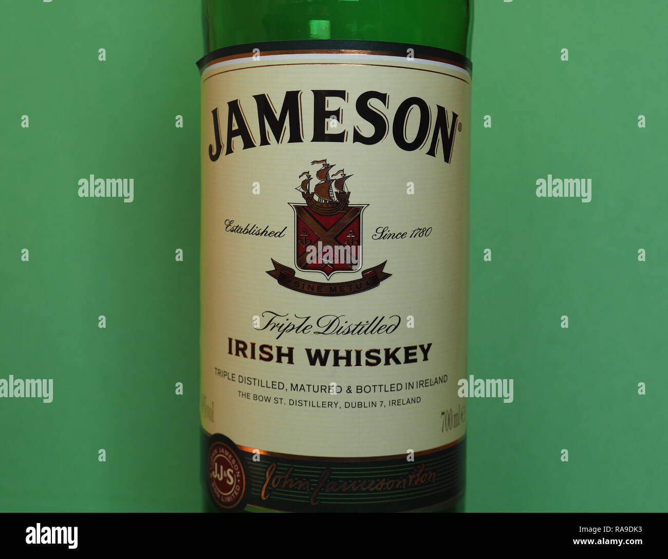 Jameson Whiskey Bottle Stock Photos & Jameson Whiskey Bottle Stock