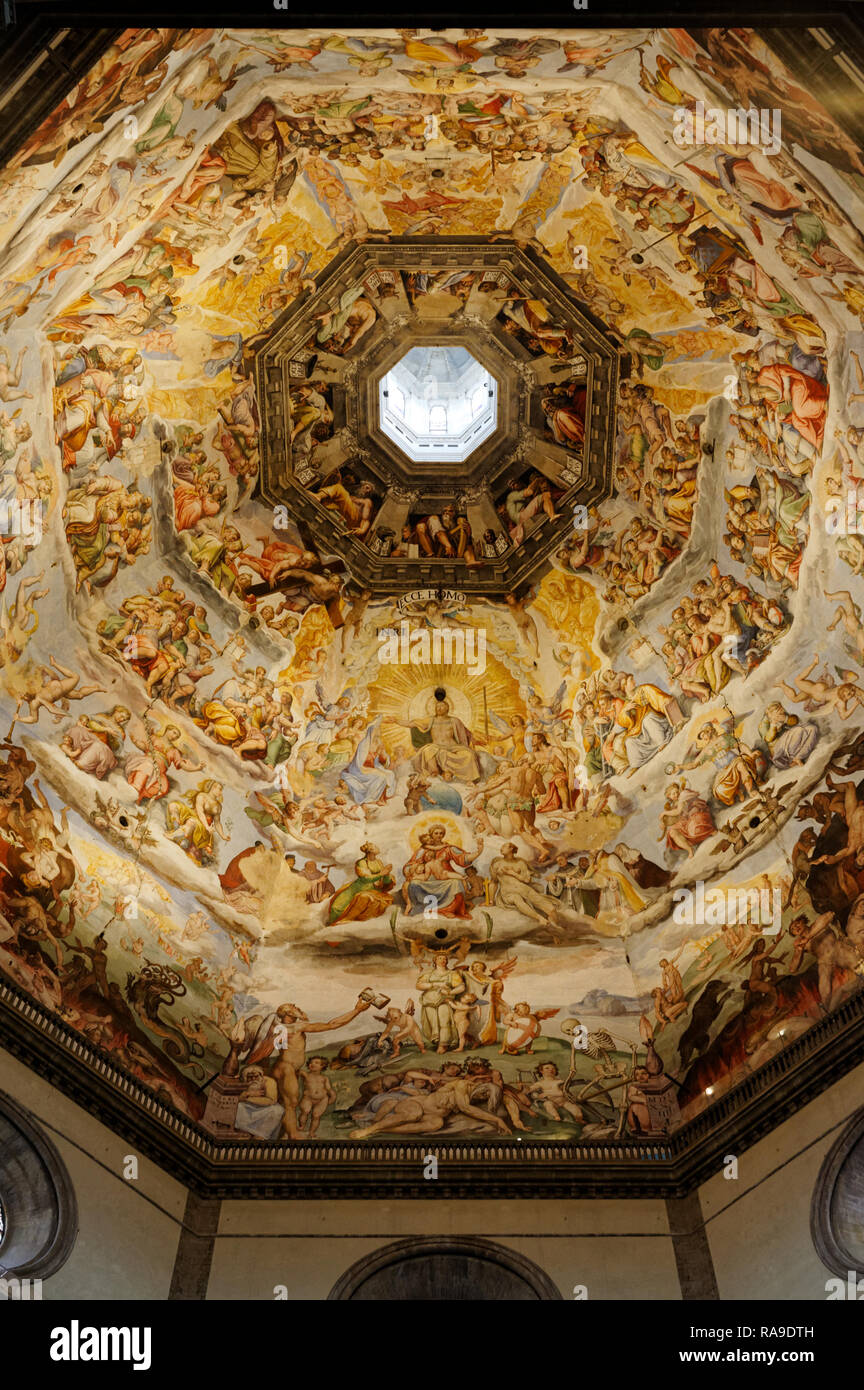 Florence Dome: Florence Cathedral Dome Inside Stock Photos & Florence
