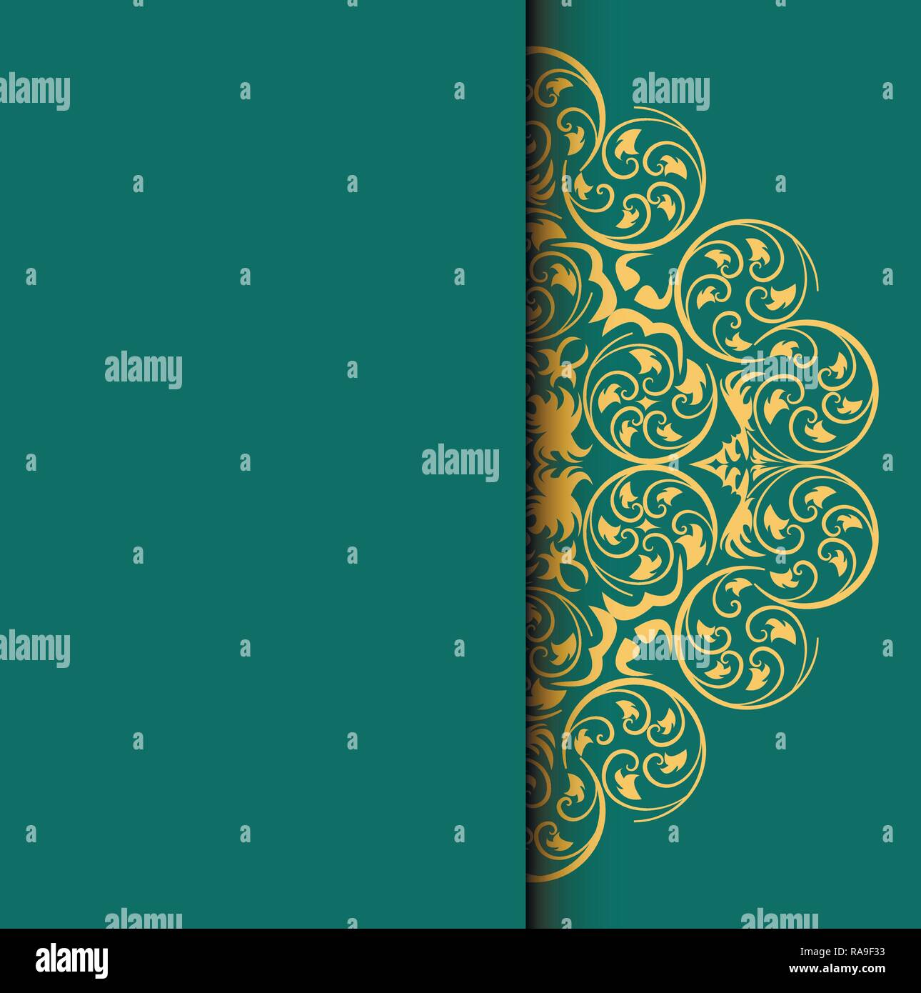 Invitation Card Background With Round Pattern For Your