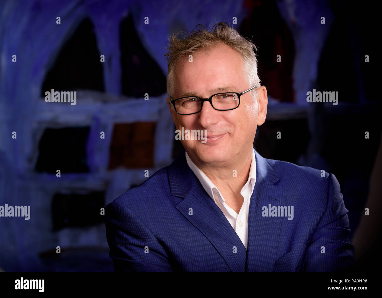 Henry Normal is an English comedian, television producer, poet and writer. - Stock Image