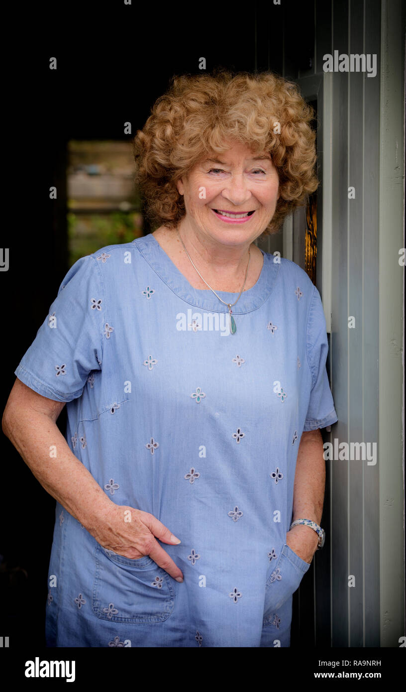 Folk singer Shirley Collins MBE in her home town of Lewes. - Stock Image