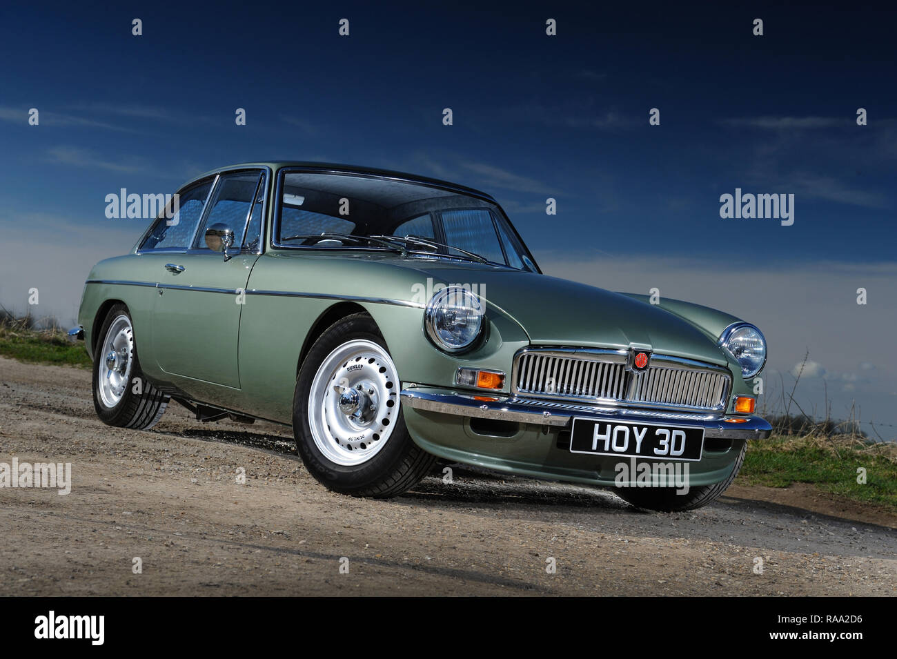 Frontline Green MGB Roadster - Stock Image