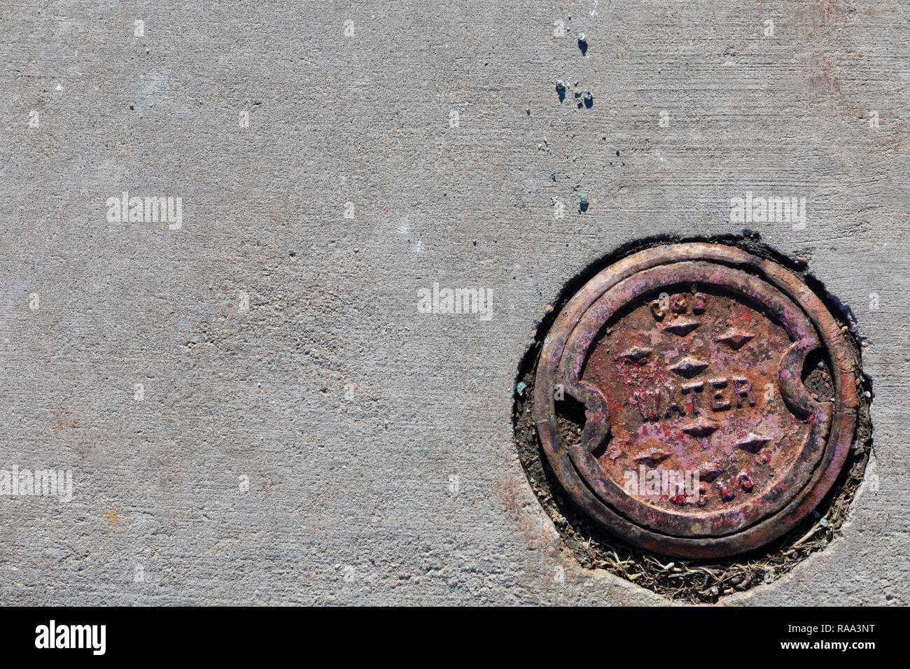 Water access cover. - Stock Image