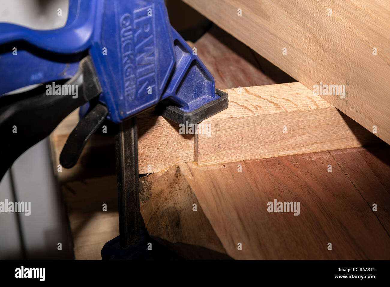 Clamping wood - Stock Image