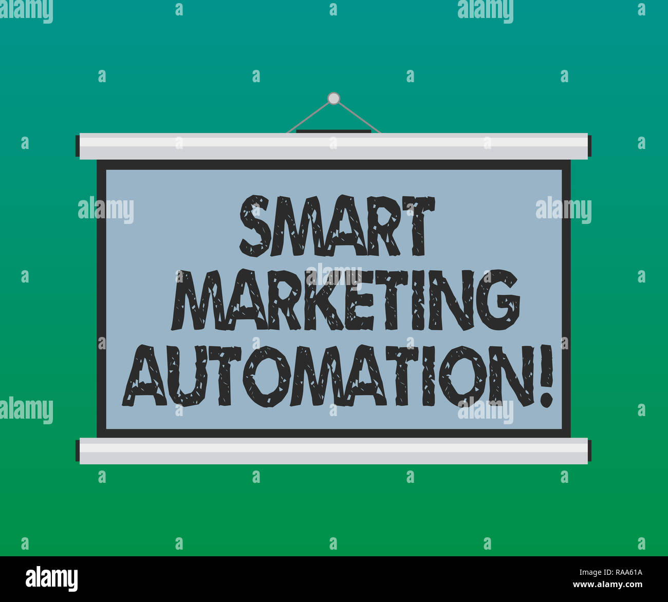 Handwriting text Smart Marketing Automation  Concept meaning