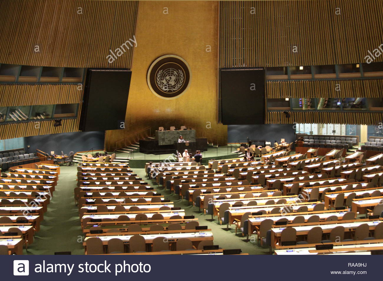 General Assembly Hall, United Nations, New York - Stock Image