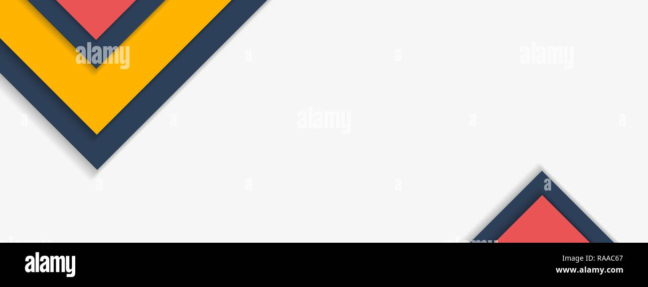 Material Design background with sample text copy space. Vector illustration. - Stock Image
