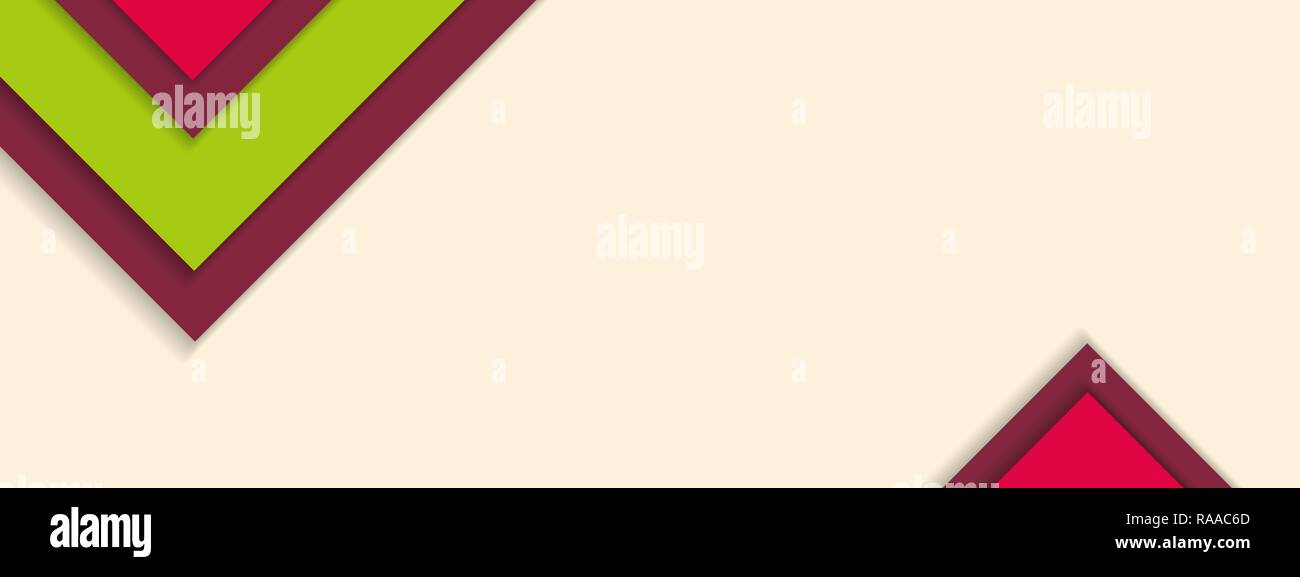 Summer material design background with sample text copy space. Vector illustration. - Stock Image
