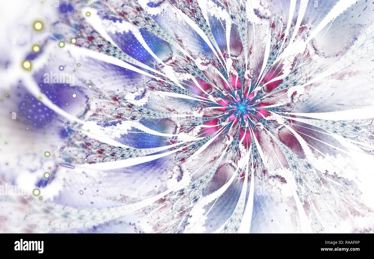 Abstract Computer Generated Fractal Flower Design Digital Artwork