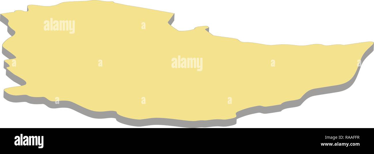 3d map of Ethiopia. Silhouette of Ethiopia map vector illustration - Stock Vector