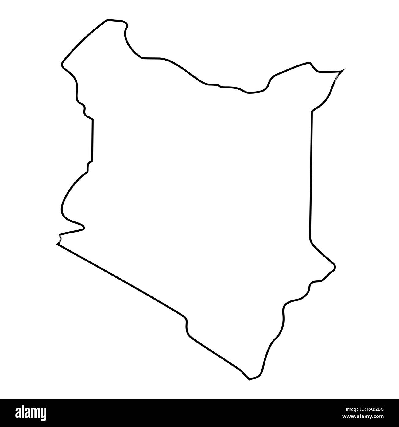 Kenya Map Black and White Stock Photos & Images - Alamy