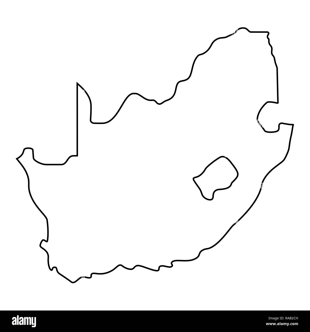 Outline Of Africa Map.Map Of South Africa Outline Silhouette Of South Africa Map