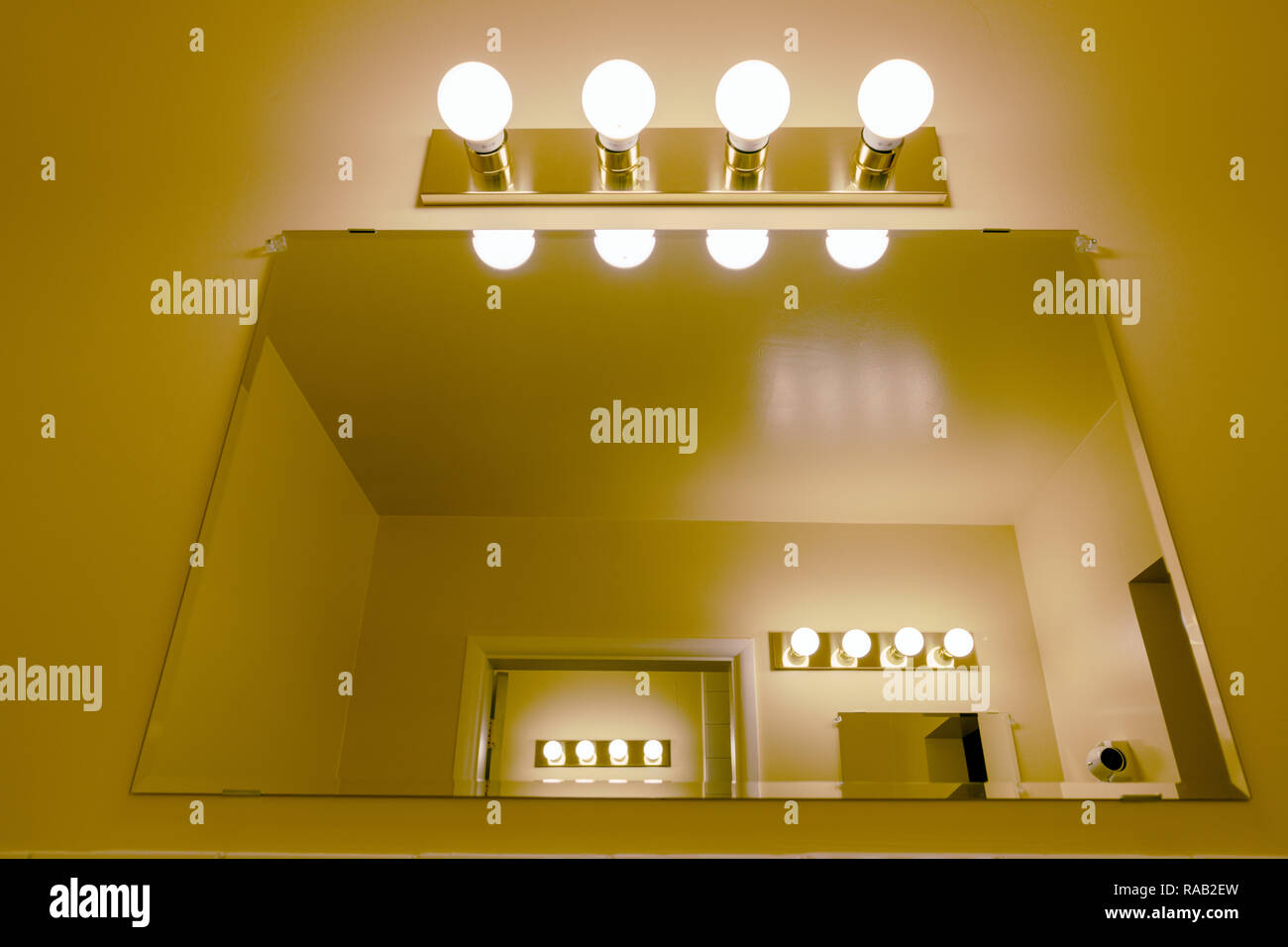 Light fixtures and mirrors - Stock Image