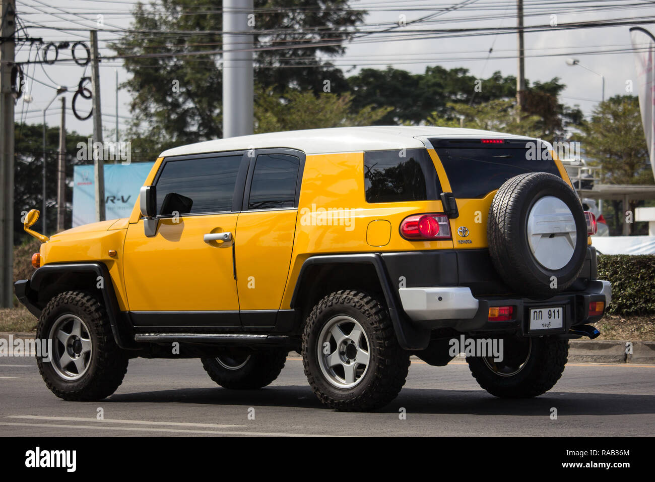 Chiangmai, Thailand - January 3 2019: Private car, Toyota FJ