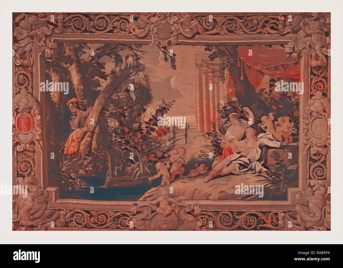 Carlo and Ubaldo find Rinaldo in Armida's garde. Reimagined by Gibon. Classic art with a modern twist reimagined Stock Photo