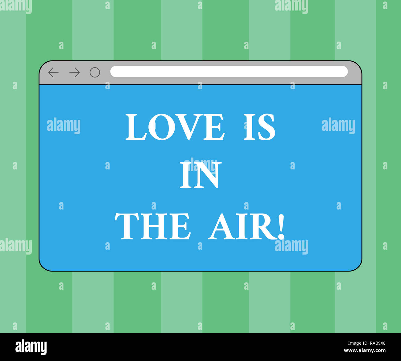 Handwriting text writing Love Is In The Air  Concept meaning