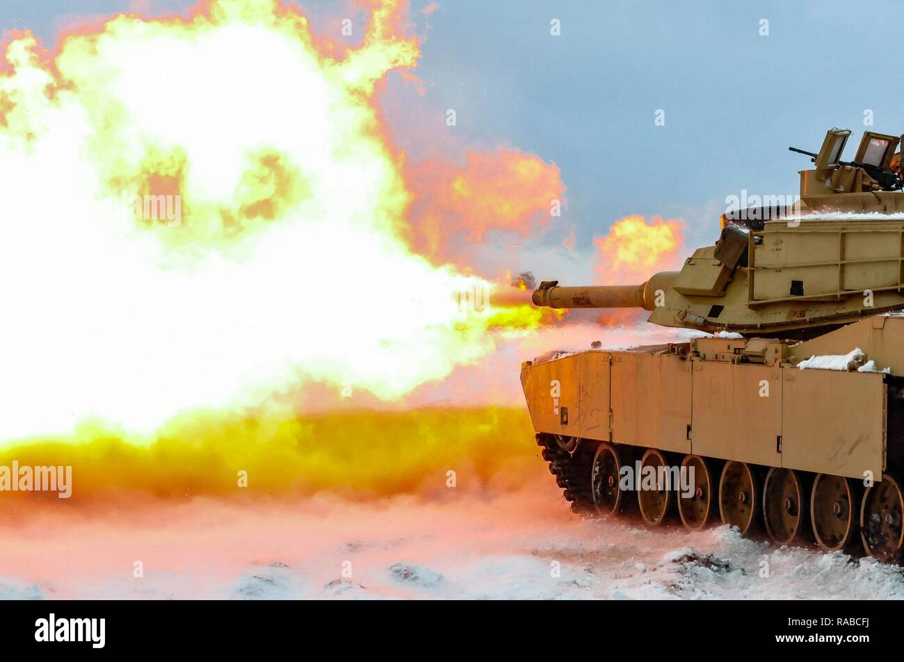 cb1175110f6 A round is fired from an M1A2 Main Battle Tank belonging to 1st ...