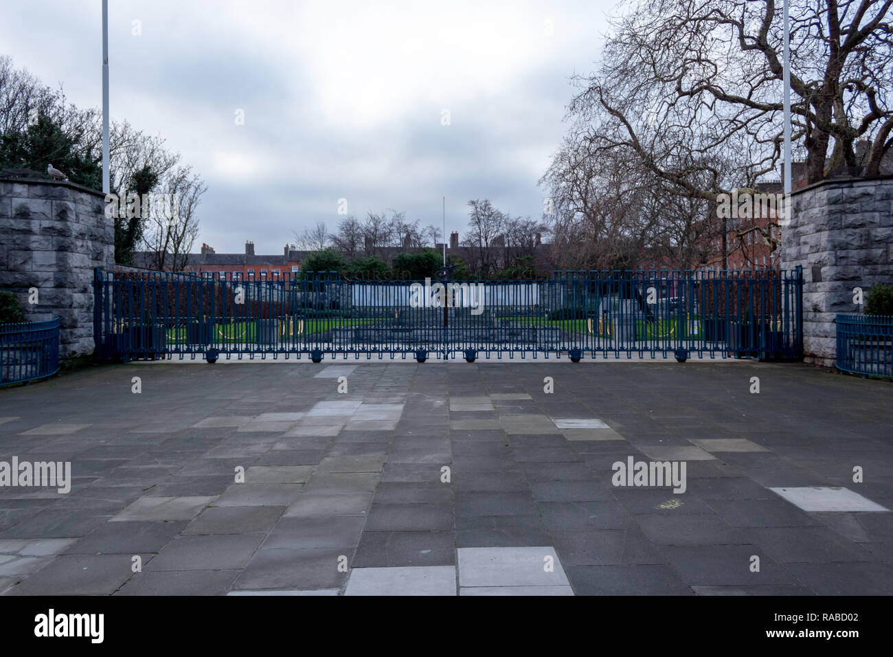 An image of the Garden of Remembrance in Dublin City which remembers those who died in the name of the Irish Republic Stock Photo