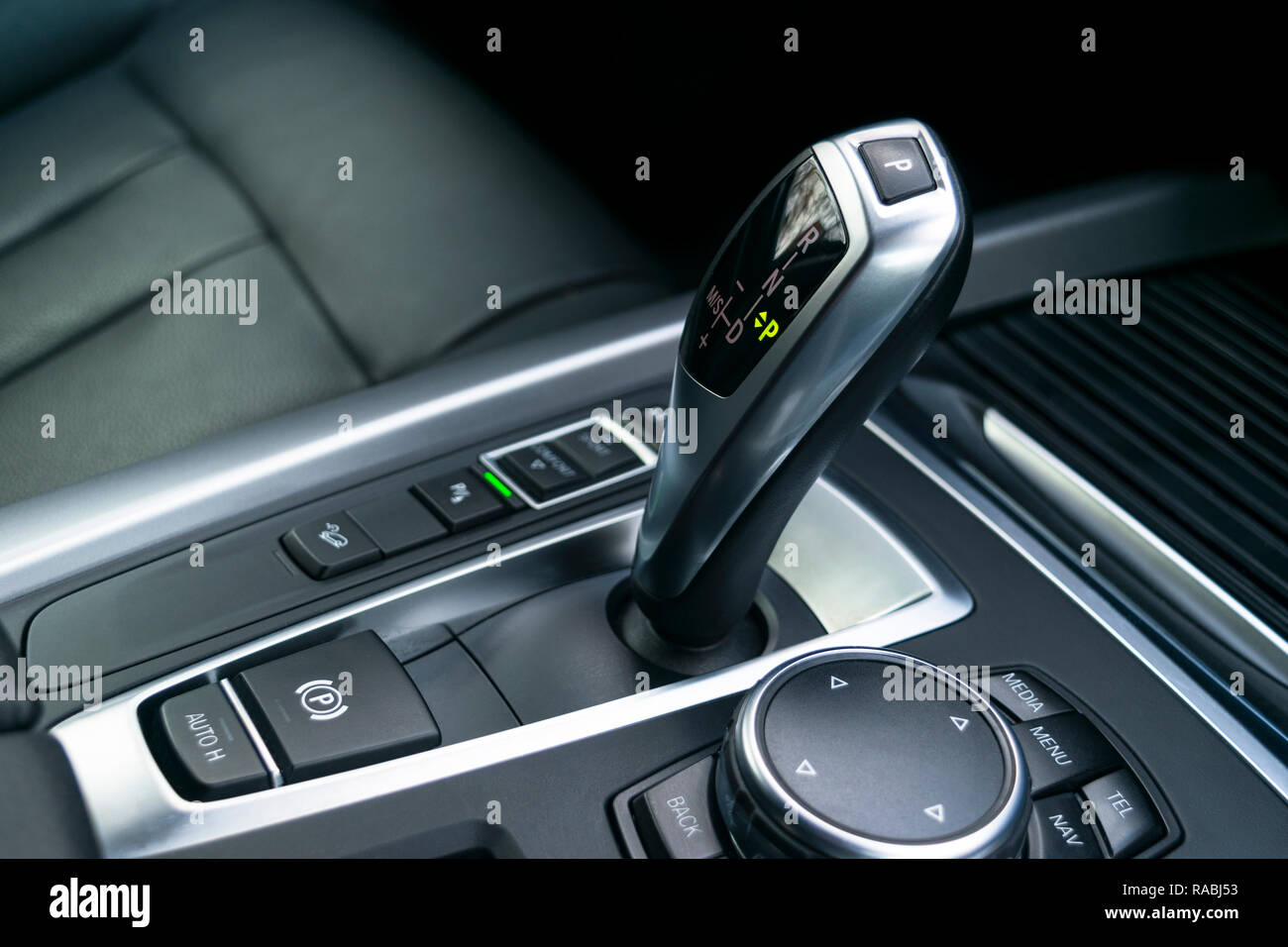 Automatic gear stick (transmission) of a modern car