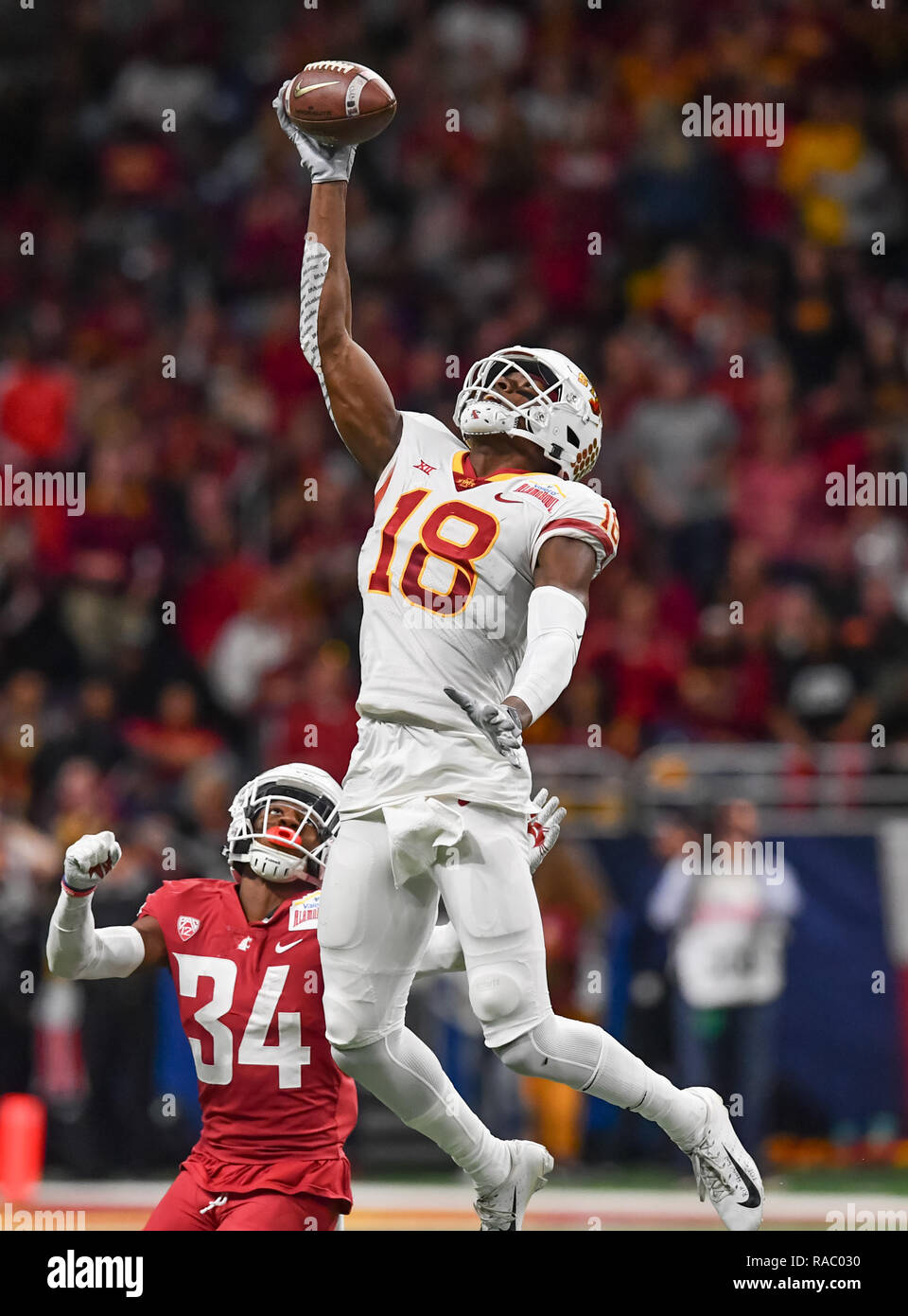 super popular b9316 5f1d8 December 28, 2018 San Antonio, TX...Iowa State receiver, Hakeem