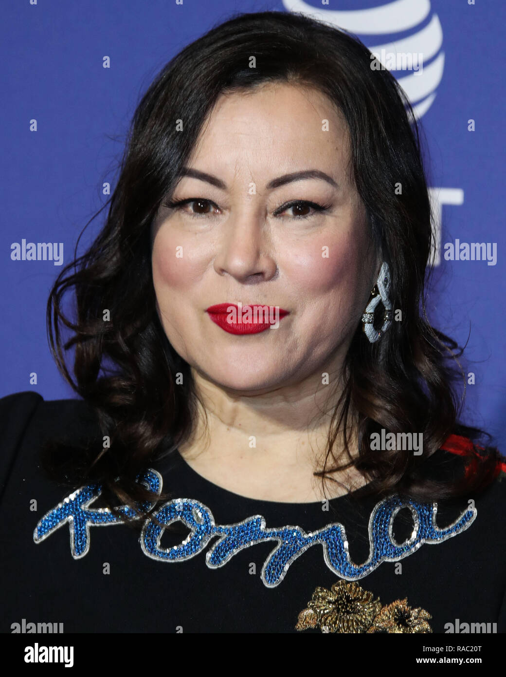 Palm Springs, California, USA. 3rd January, 2019. Jennifer Tilly arrives at the 30th Annual Palm Springs International Film Festival Awards Gala held at the Palm Springs Convention Center on January 3, 2019 in Palm Springs, California, United States. (Photo by Xavier Collin/Image Press Agency) Credit: Image Press Agency/Alamy Live News - Stock Image