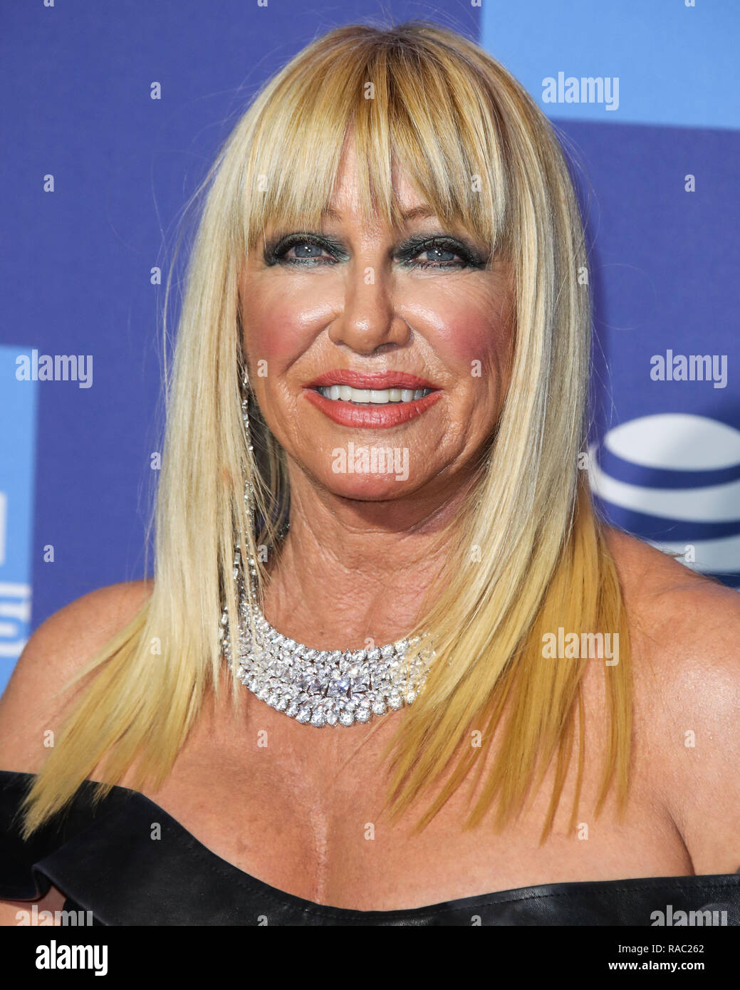 Palm Springs, California, USA. 3rd January, 2019. Suzanne Somers arrives at the 30th Annual Palm Springs International Film Festival Awards Gala held at the Palm Springs Convention Center on January 3, 2019 in Palm Springs, California, United States. (Photo by Xavier Collin/Image Press Agency) Credit: Image Press Agency/Alamy Live News - Stock Image
