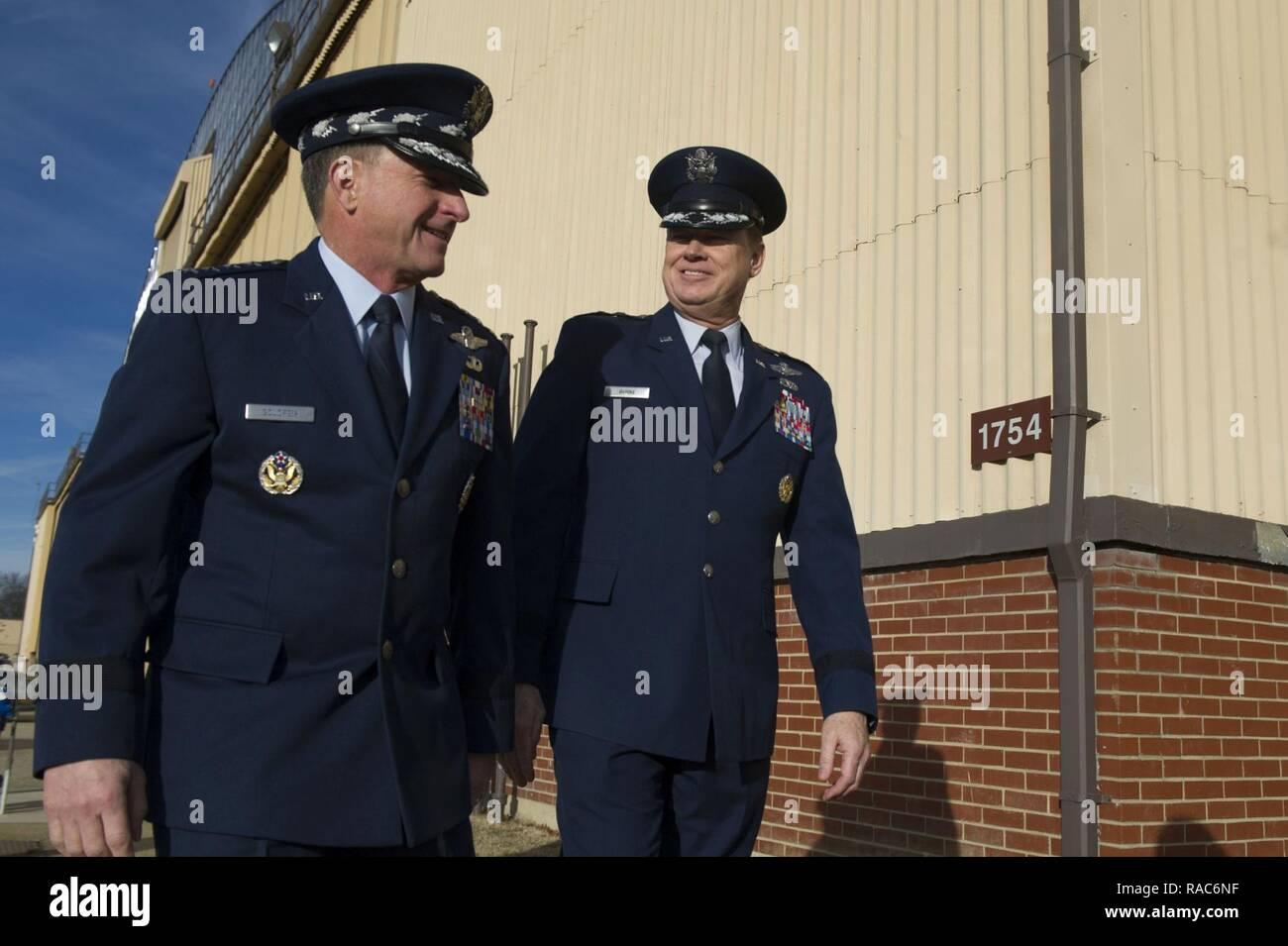 11de33428 Air Force District of Washington Commander Maj. Gen. Darryl Burke (right)  walks