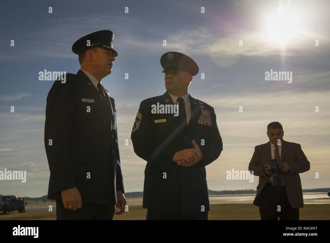 b6fe6ce27 Air Force District of Washington Commander Maj. Gen. Darryl Burke and AFDW  Command Chief