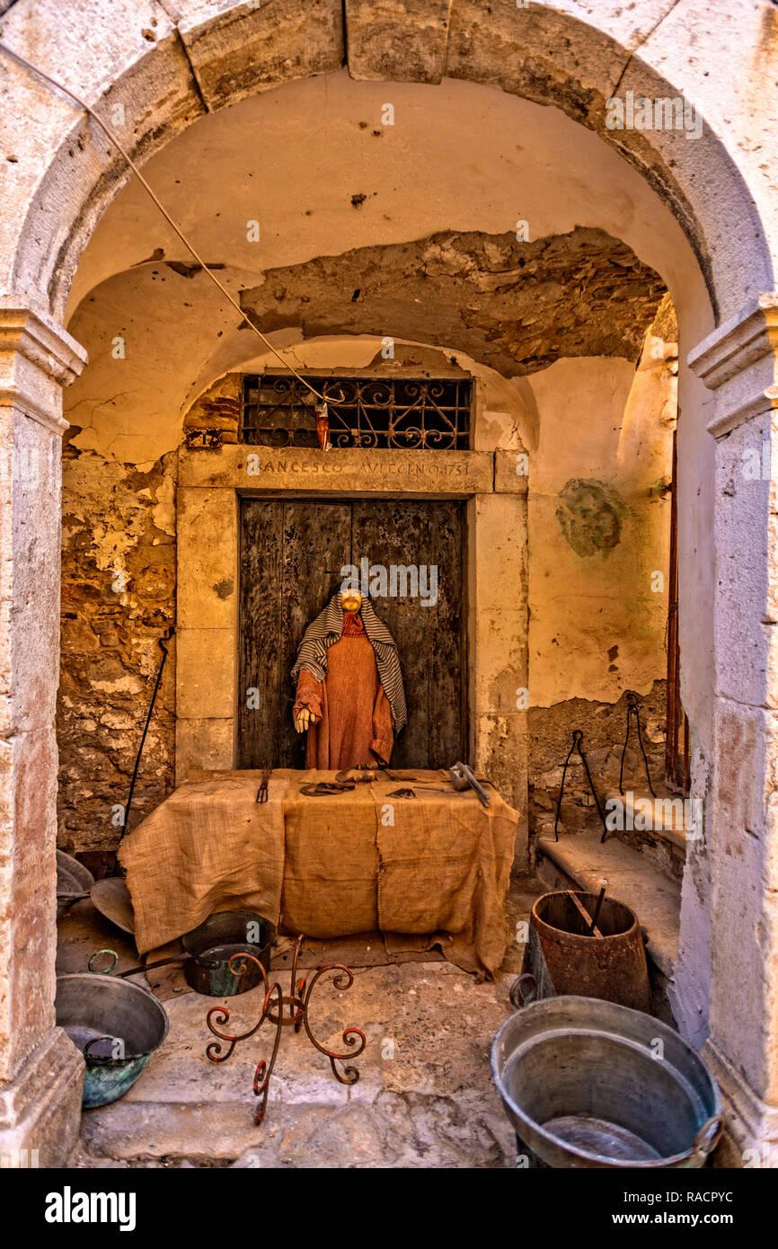 Italy Apulia Candela Historic Center - Stock Image