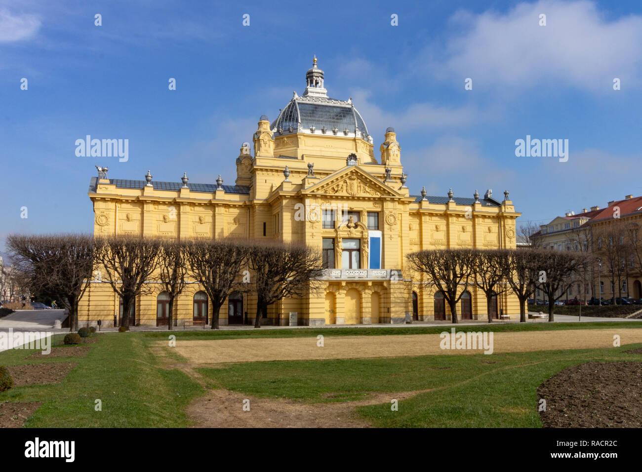 The Umjetnicki Paviljon Art Pavilion In Zagreb Croatia Is