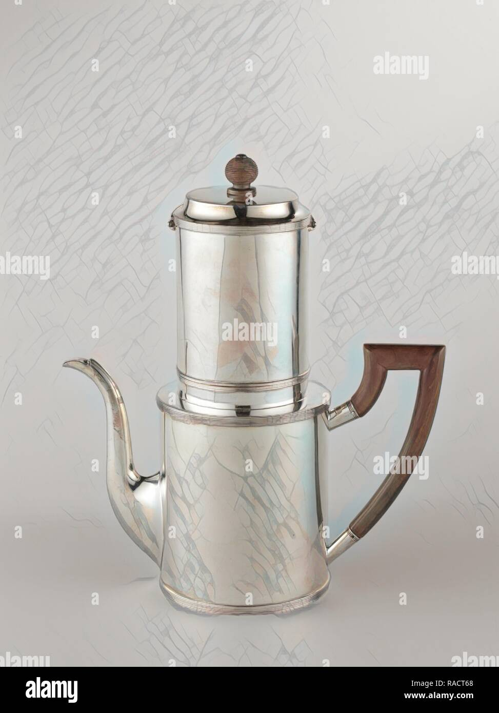 Drip filter coffee pot, Fa. Diemont, Jacobus Carrenhoff, 181. Reimagined by Gibon. Classic art with a modern twist reimagined - Stock Image