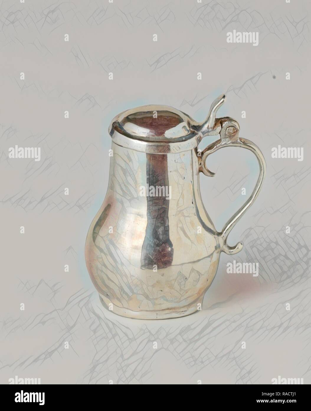 Tankard, Anonymous, c. 1704 - c. 173. Reimagined by Gibon. Classic art with a modern twist reimagined - Stock Image